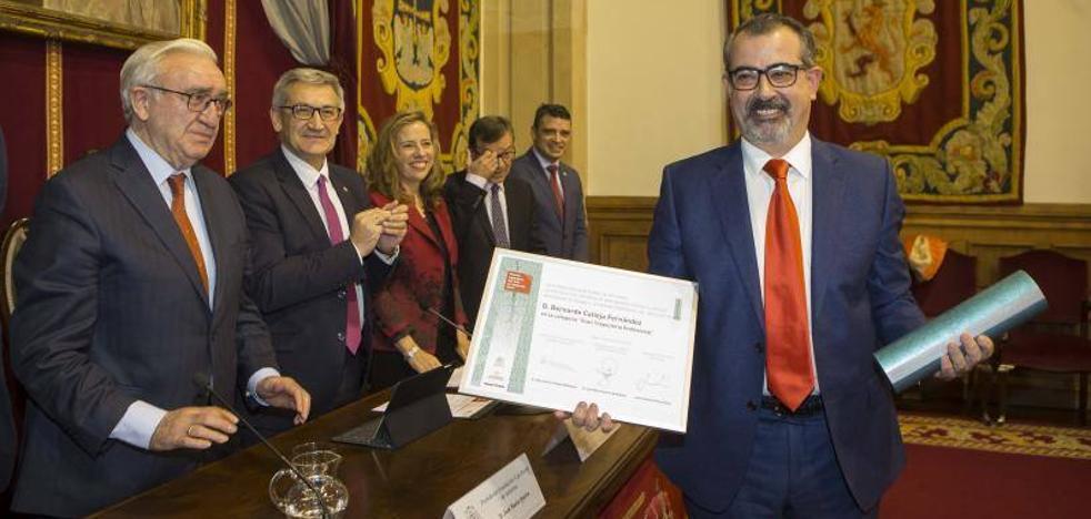 Bernardo Calleja y Gloria Naveiras, ingenieros del año en Asturias