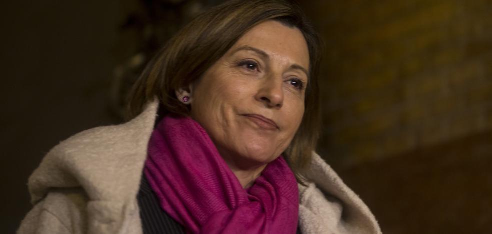 Forcadell regresa al Parlament tras su ingreso en prisión