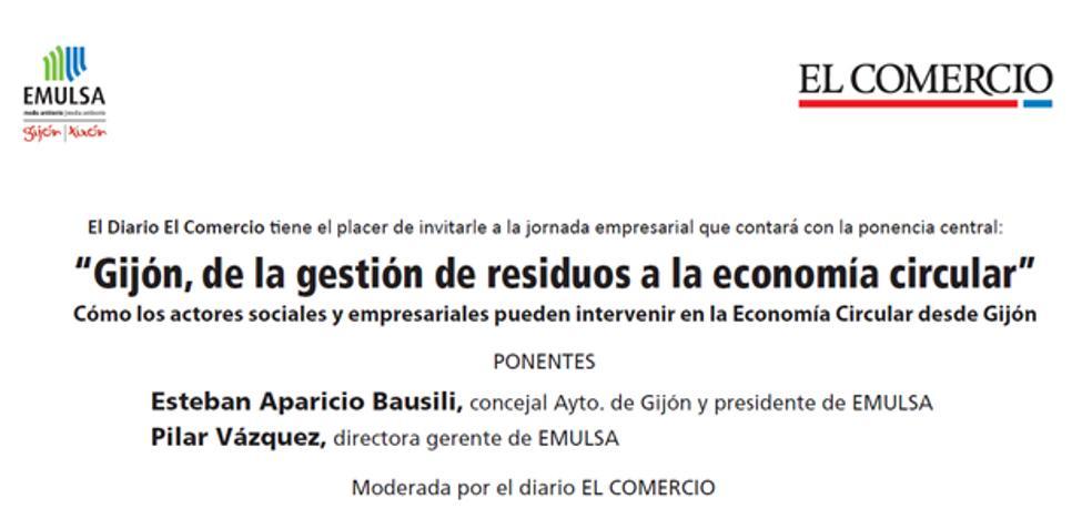 EL COMERCIO y EMULSA abordan el viernes 'Gijón, de la gestión de residuos a la economía circular'