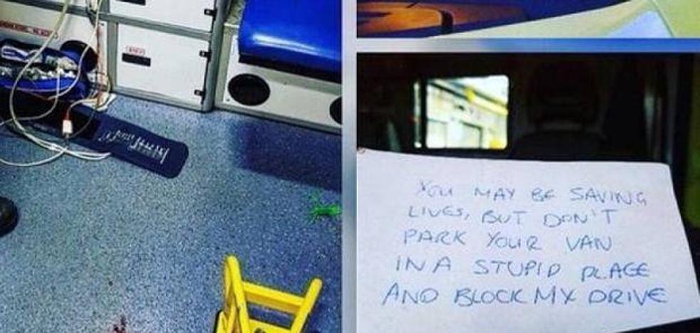 El mensaje que encontraron en una ambulancia tras atender a una emergencia