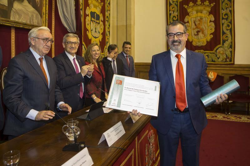 Bernardo Calleja y Gloria Naveiras, premios Ingeniero del Año de Asturias 2017