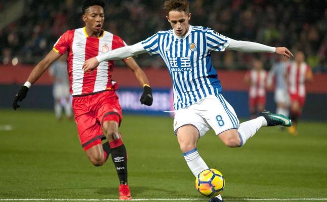 El Girona y la Real empatan en un partido lleno de alternativas