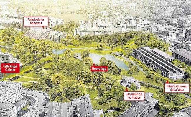 El nuevo Bulevar de Santullano tendrá un gran parque con lago y los viales separados