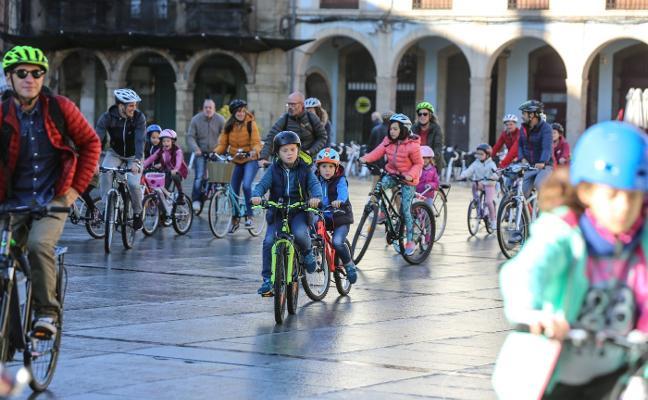 Ruta ciclista por los parques de la ciudad