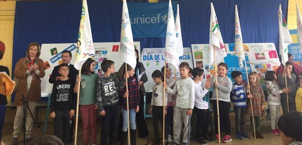 El colegio Príncipe de Asturias de Tapia, un referente para Unicef