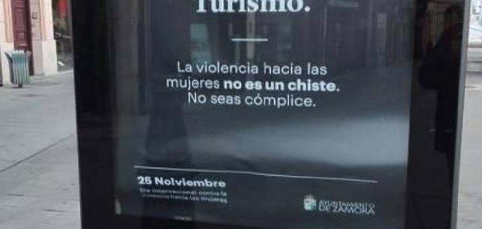 Polémica campaña contra la violencia machista en Zamora: «Cuanto más fuerte las pegas antes vuelven»