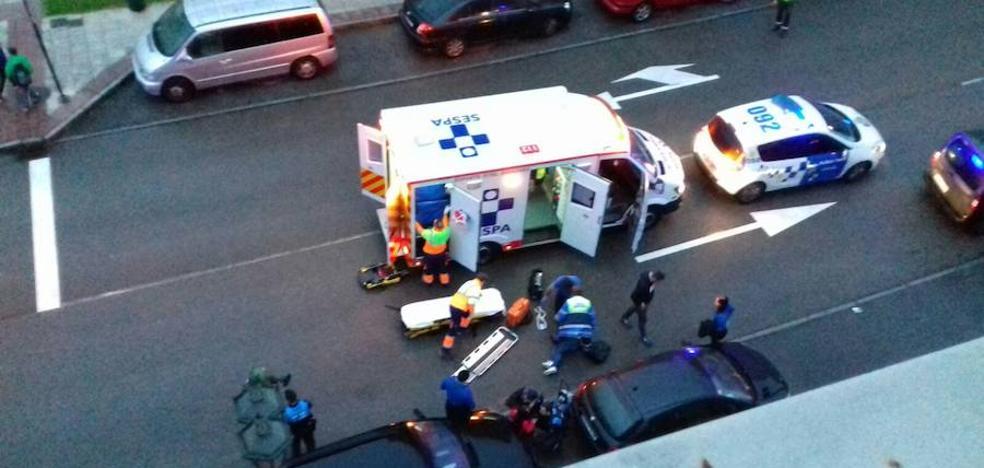 Herida leve tras ser atropellada en La Corredoria
