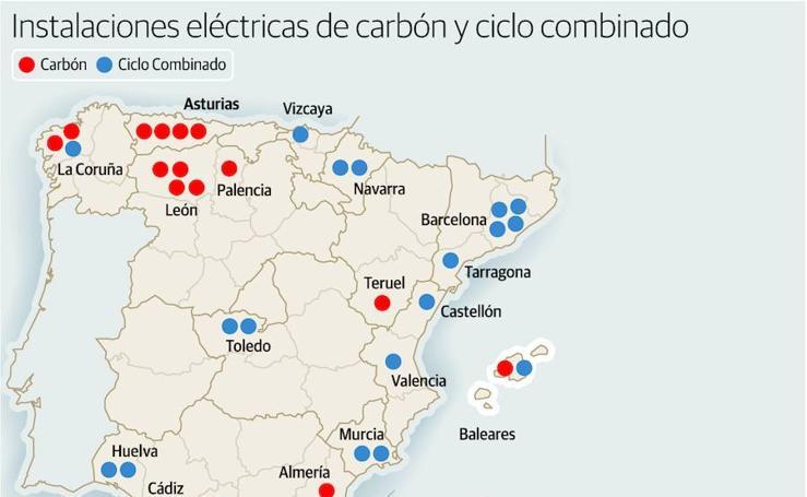 Instalaciones eléctricas de carbón y ciclo combinado