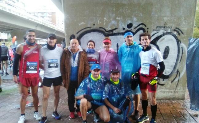 Los avilesinos cumplen en la maratón de San Sebastián