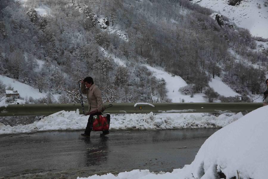 El Principado, cubierto por la nieve
