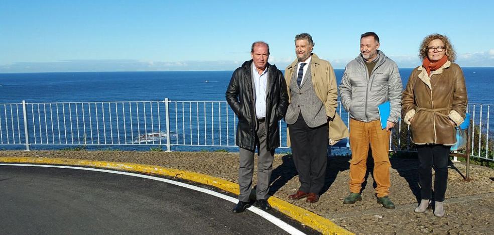 Inaugurada la carretera a los miradores de Peña Furada, en Navia