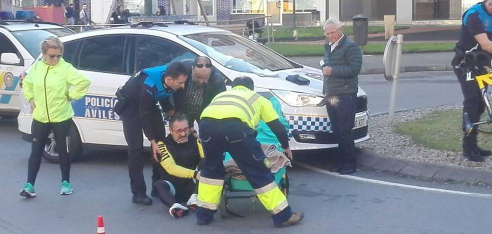 Herido un ciclista en José Cueto