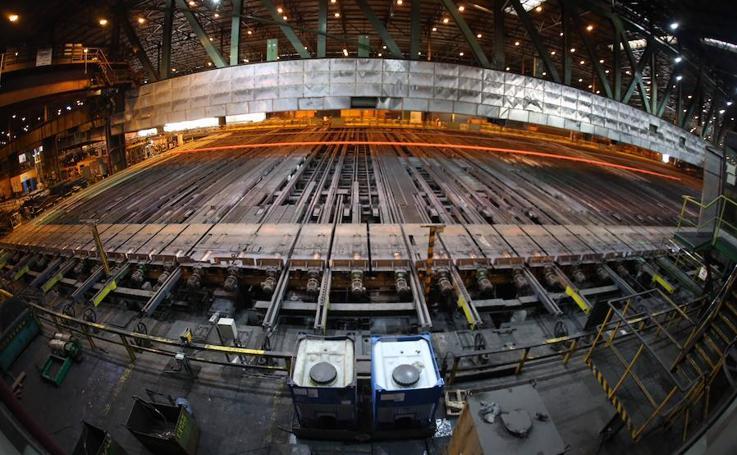 Instalaciones de carril de Arcelor en Asturias
