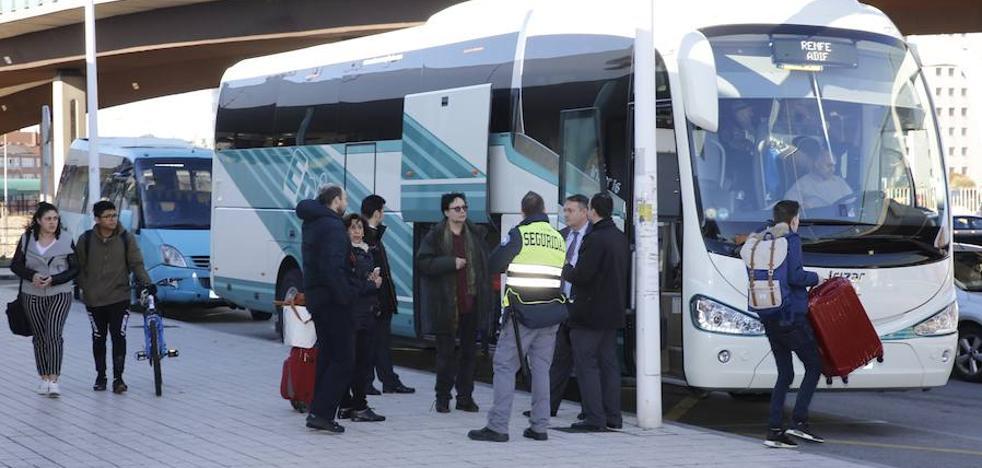 Mil pasajeros de doce trayectos, afectados por el corte ferroviario con la Meseta