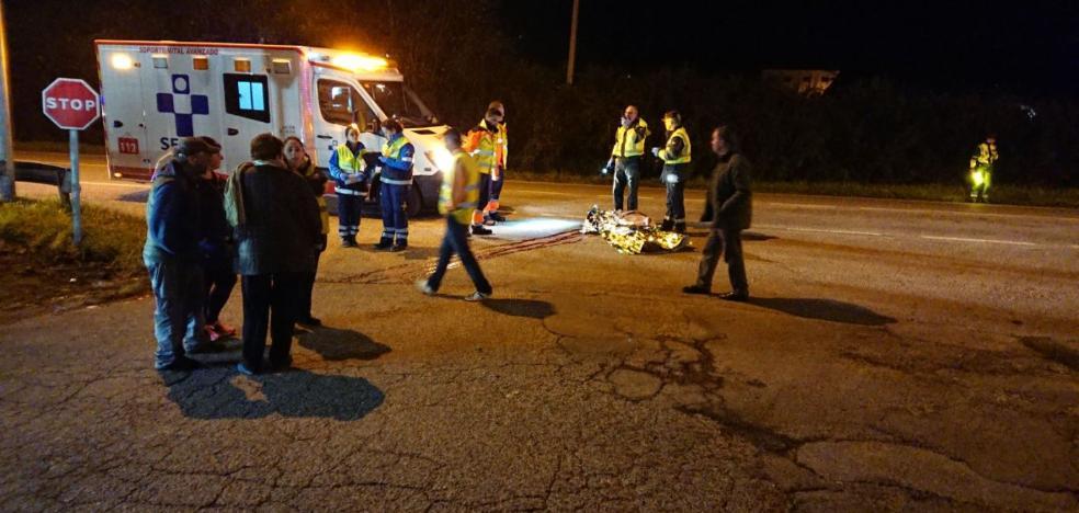 Fallece un hombre tras ser atropellado por un camión en Siero