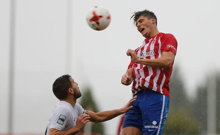 El Sporting B - Real Unión (2-1), en imágenes