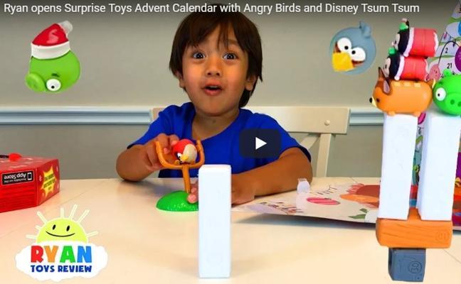 El niño que gana 9 millones de euros haciendo reseñas de juguetes en Youtube