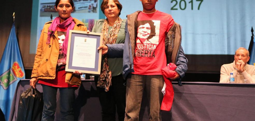 El espíritu de Berta Cáceres preside el Premio Derechos Humanos de Siero