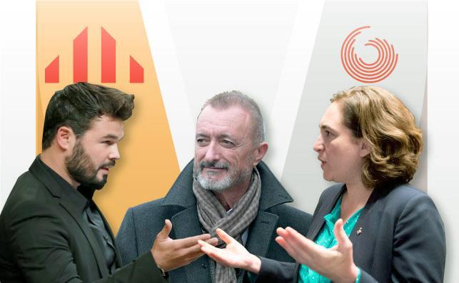 Pérez-Reverte a Colau: «A mí no me utilice para sus basuritas político-folklóricas»