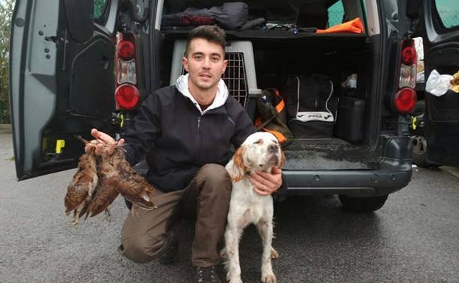 Adrián Fernández, campeón de Asturias de caza de arcea