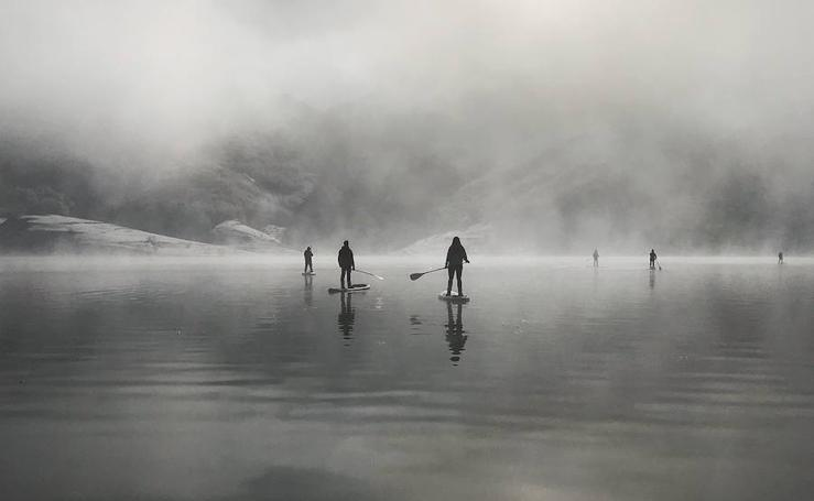 Stand Up Paddle bajo la nieve