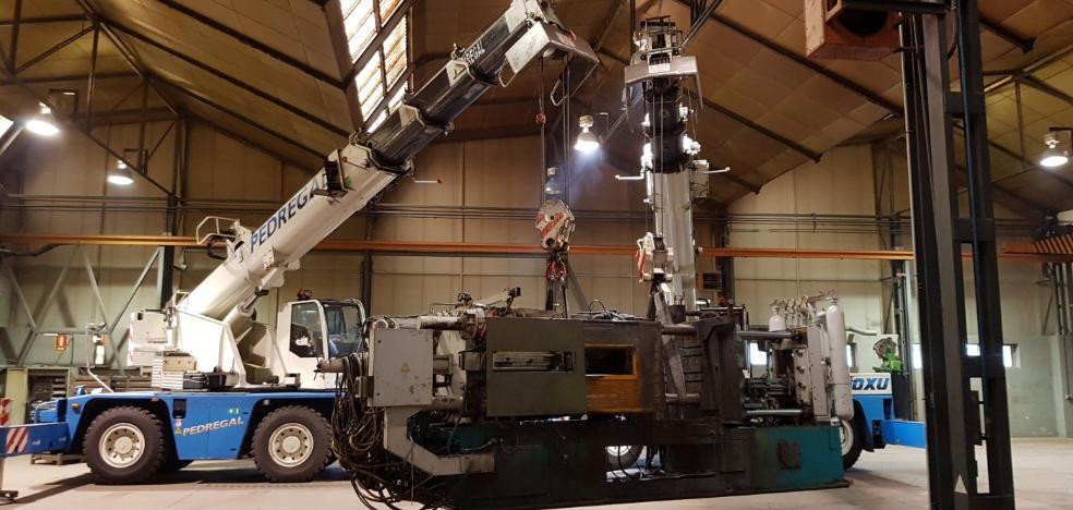 Vauste recibe la primera máquina de inyección de magnesio para su nueva nave