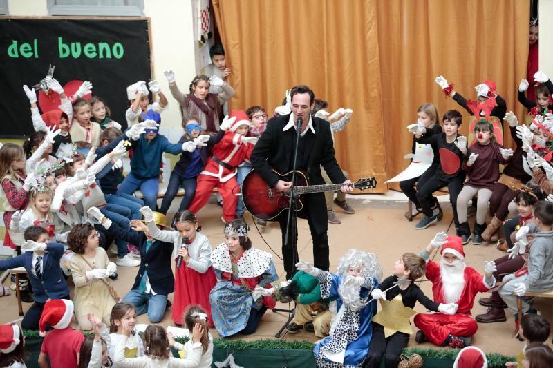 Fiesta navideña en el colegio Clarín de Gijón con invitado especial: Igor Pascual