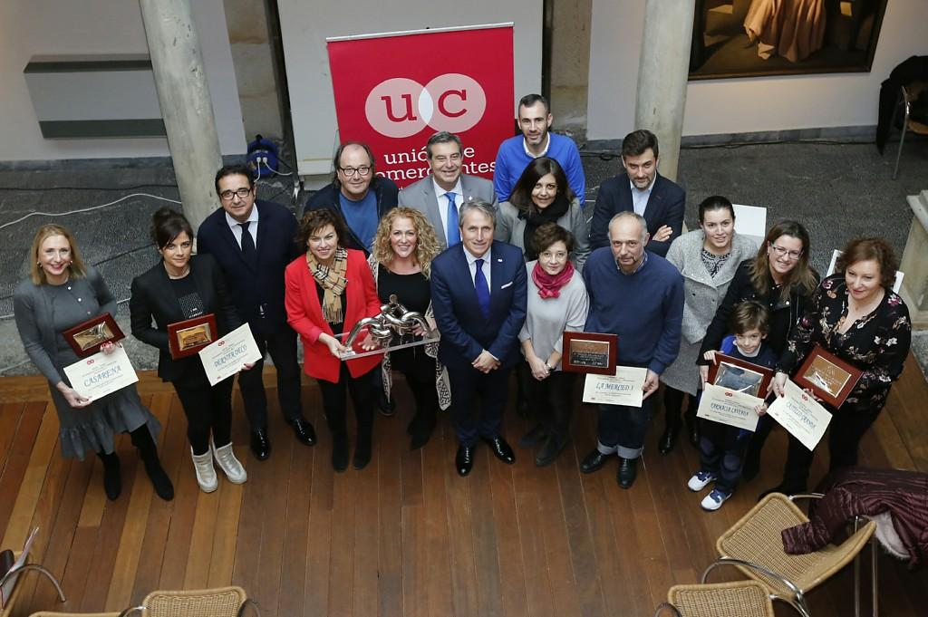 Entrega de premios del concurso de escaparates navideños de Gijón