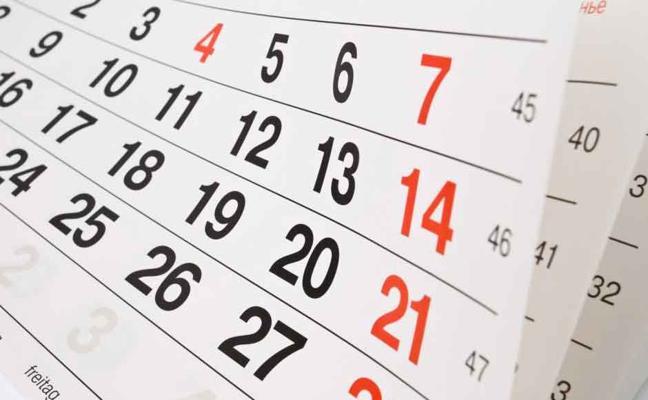 El calendario laboral de 2018 incluye diez festivos nacionales