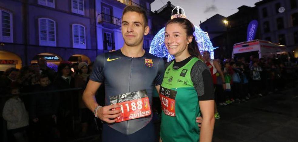 Aitor Fernández y Adela Villa ganan la San Silvestre de Avilés