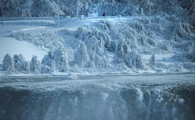 Las cataratas del Niágara, heladas