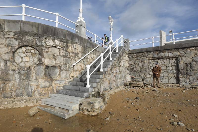 Las imágenes que deja en Gijón el paso del temporal