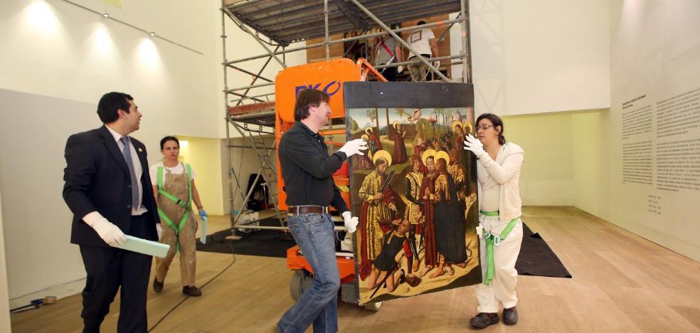 Empieza la instalación del retablo de la colección de Plácido Arango