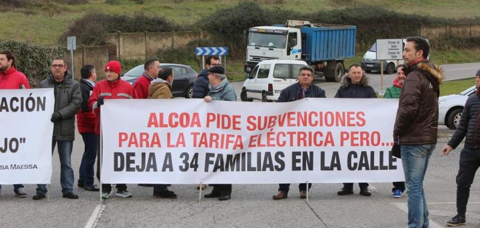 Atropellan a un manifestante de Montrasa en la concentración ante Alcoa