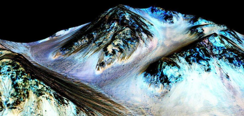 Detectan abundantes glaciares cerca de la superficie de Marte