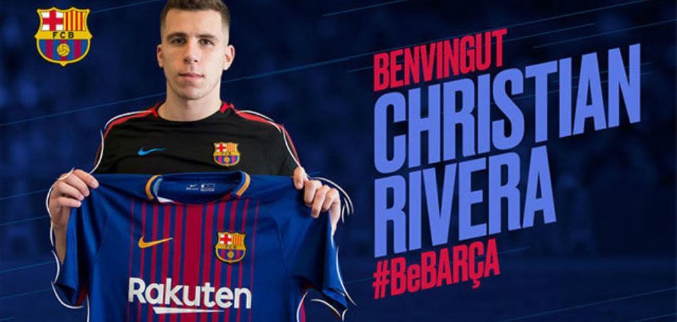 El gijonés Christian Rivera refuerza al Barça B