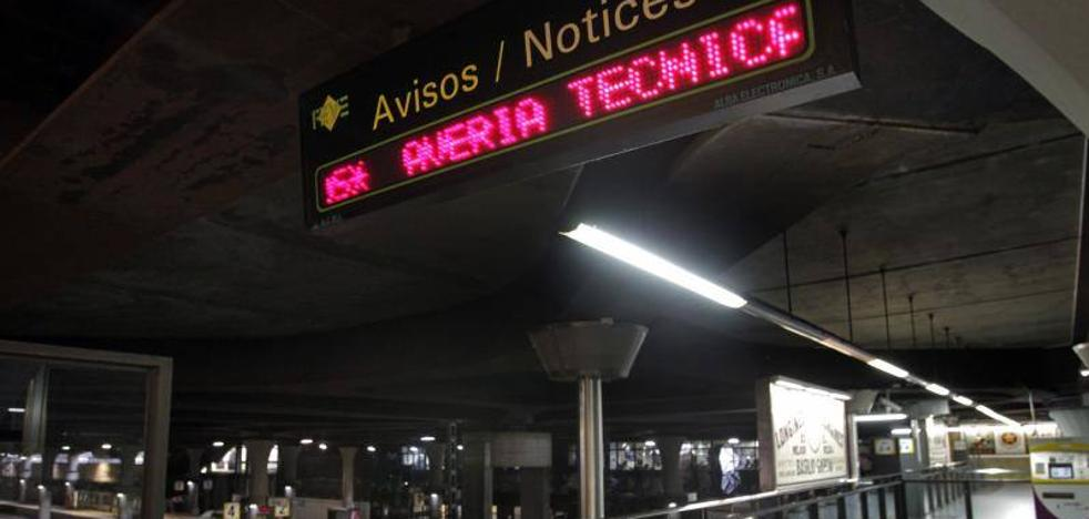 Una avería colapsa las líneas de Feve en Asturias durante más de dos horas