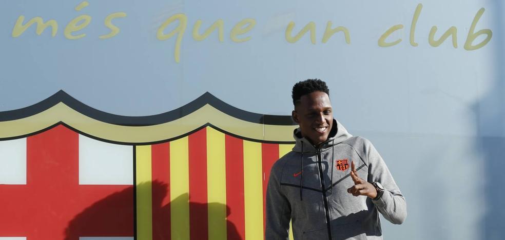 Yerry Mina: «Espero aprender de Messi, Piqué y Umtiti»