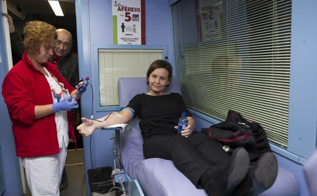 Carmen Moriyón: «Donar sangre es un gesto de solidaridad inmenso. Vale la pena»
