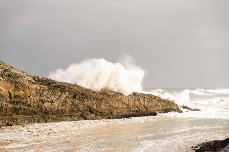 Los daños del oleaje en Asturias