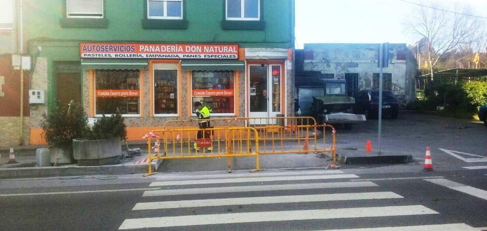 El Ayuntamiento de Corvera ejecuta nuevas obras de eliminación de barreras arquitectónicas en Trasona