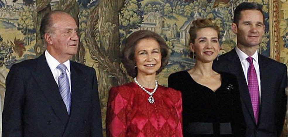 Don Juan Carlos, en el 50 cumpleaños de Urdangarin