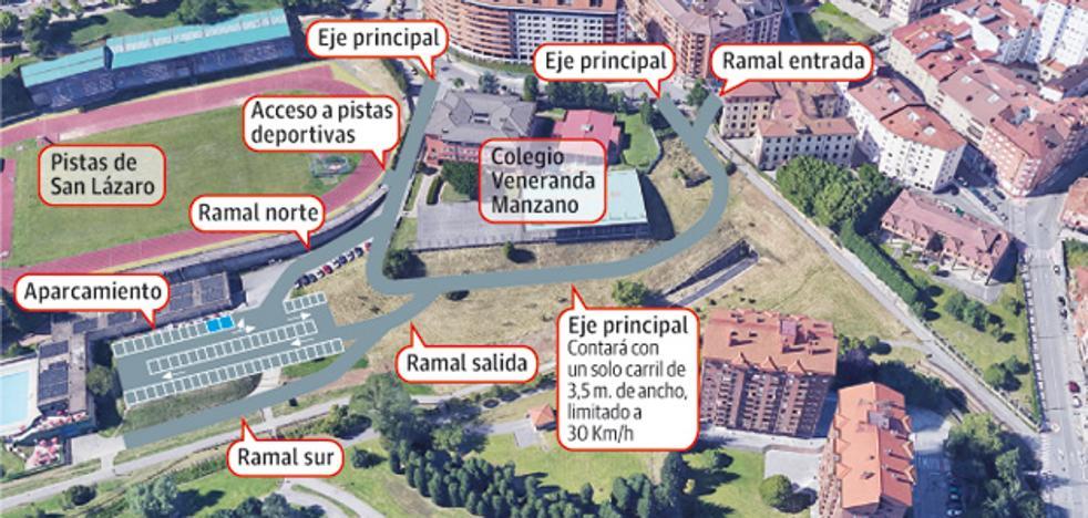 Las pistas de San Lázaro contarán con un nuevo acceso y se ampliará el aparcamiento