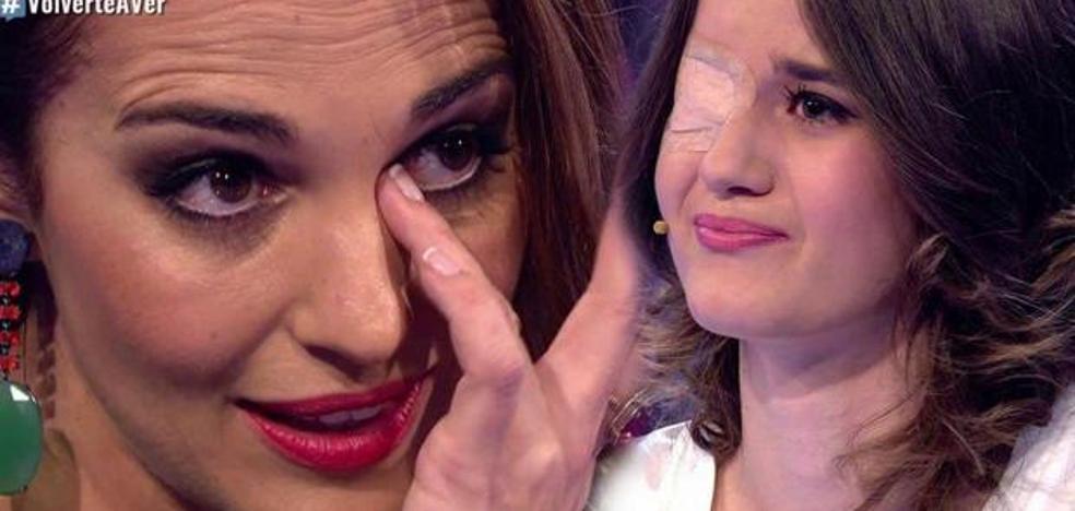 Paula Echevarría rompe a llorar en el estreno de 'Volverte a ver'