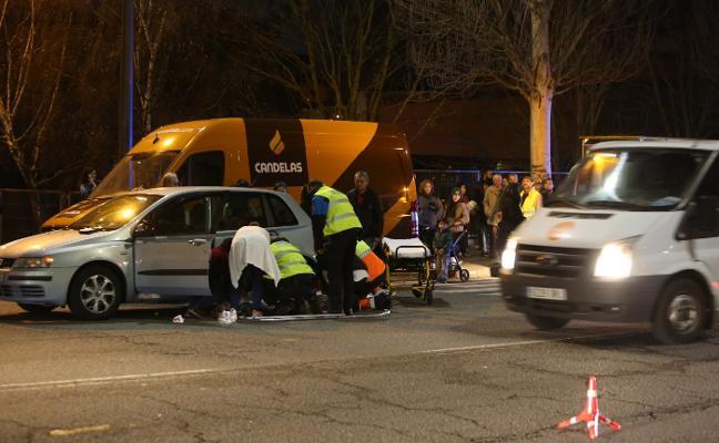 Un peatón resulta herido tras ser atropellado en Gutiérrez Herrero
