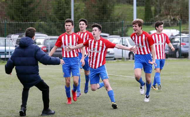El Sporting gana en Oviedo y encarrila el título liguero en categoría cadete