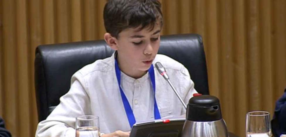 La petición de un niño asturiano en el Congreso de los Diputados