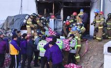 Rebajan a 37 los fallecidos en el incendio de un hospital surcoreano
