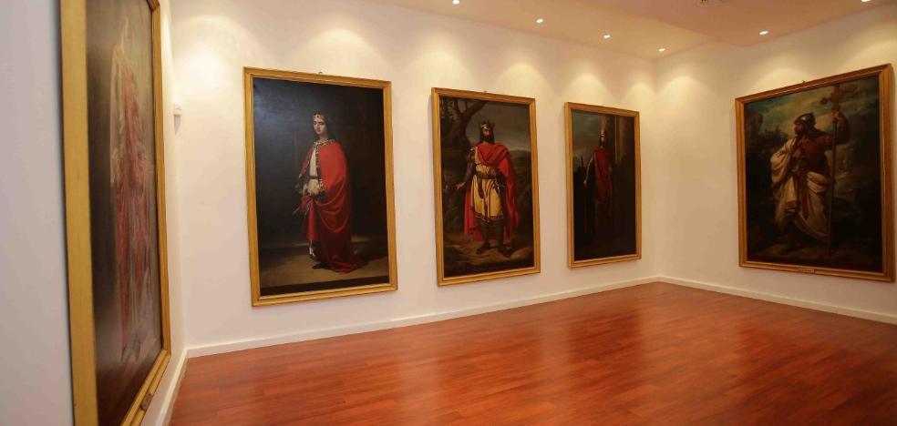 El Museo de Covadonga expondrá las pinturas de la monarquía «en un mes»