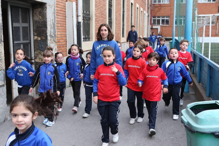 Maratón solidario del colegio de la Inmaculada de Gijón